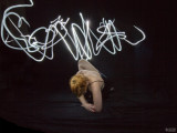 Light Painting - black lace sequence number six