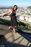 Black Dress on the Stairway