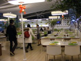 Buffet restaurant in the airport