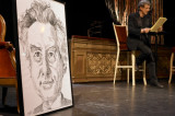 Helmut Förnbacher trägt die Sujetliste von Carl Miville vor