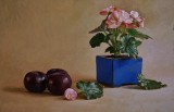 Begonia and Plums 14 x 21