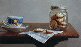 19. Still life with Teacup and Cookies 12 1/2 x 21 1/4