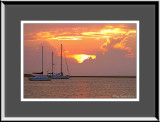 10_2846   Sailboats at Sunset  (unframed)