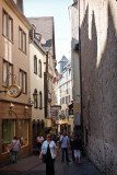 narrow shopping lane, Cochem