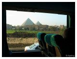 The Great Pyramid in a bus frame