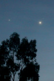 Aldebaran, Jupiter and Venus in the morning sky