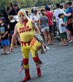 Hulk Hogam look-a-like Saratoga Race Track