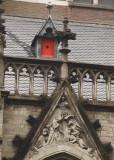 detail van de bouwstijl in het hofje