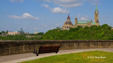 View of Parliament Hill from behind the Supreme Court of Canada