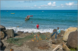 Fishermen Working Their Nets