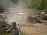 Repairing VT 132 outside South Strafford after Irene