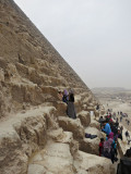 Tourists at the Great Pyramid of Khufu (Cheops)