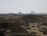 Bent Pyramid at Dahshur seen from Djosers funerary complex