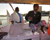 Singing Boatmen on an Aswan Felucca
