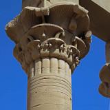 Philae Column Capital with old graffiti