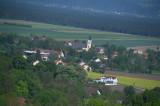 Lanzenkirchen, Kirche und Zentrum vom Ofenbacher Kirchturm aus