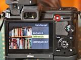 Nikon 1 V1 Verschlussart über Taste und Menü