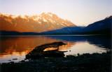 Sunrise at Meziadin Lake