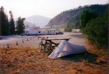 My camp site in Dawson City