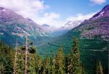 White Pass and Yukon Route narrow gauge railroad line