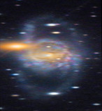 Spiral Galaxy NGC 5792 with Distant Background Quasars