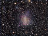 Barnard's Galaxy Through a Veil of Galactic Cirrus