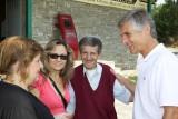Austrian ambassador visiting the Milia museum