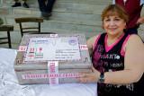Prof. Evangelia Tsoukala with present from Hollandia