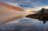 Reflection on Llyn Dinas.
