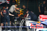 Mark Webber's crew at work