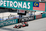 Lewis Hamilton on the straights