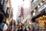 Shoppers in Myeongdong