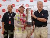 Na Yeon Choi (S. Korea) wins the LPGA Malaysia Golf Tournament 2011.