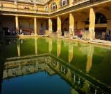 The Roman bath reflection.  Bath,Somerset, UK