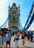 Walking Over and Around London's Tower Bridge ,London