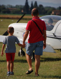 Adults and children at the Airshow