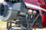 Helicopter engine close up
