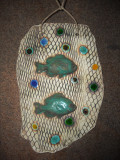 Fishes ceramic wall plaque
