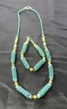 Aqua Necklace and Bracelet