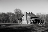 Abner Hollow Cabin B&W