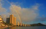 Rainbow over Waikiki Beach and Diamond Head
