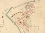 Plan du village d'Aulnay sous Napoléon 1er