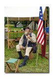 Soldier with flag
