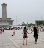 Posing In Tiananmen