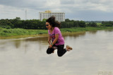 Fying over the Mekong