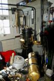 Vuurtoren, de compressor t.b.v. de misthoorn