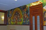 WPA mural, restored