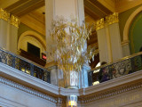 Golden grain sculpture