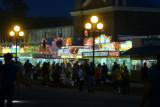Food vendors glow in the dark