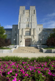 Burruss Hall And Flowers